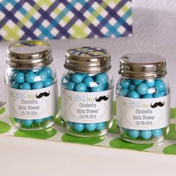 Personalized Mini Glass Baby Shower Mason Jars