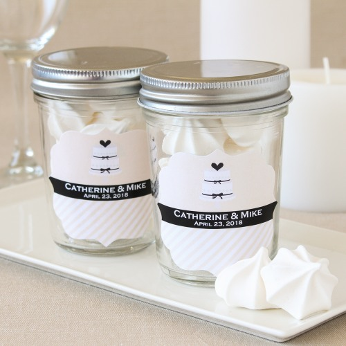 Personalized Bridal Mason Jars