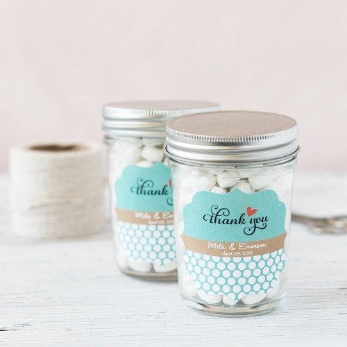 Personalized Bridal Mason Jar Favors