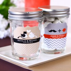 Personalized Bridal Mini Mason Jars