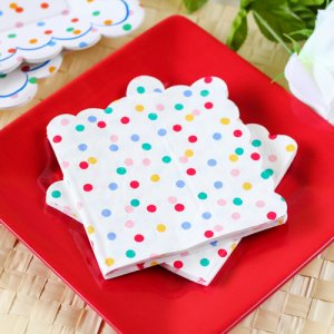 "Toot Sweet Spotty 10"" Party Napkins"