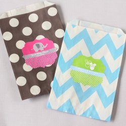 Personalized Baby Shower Pattern Goodie Bags
