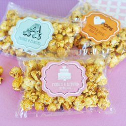 Personalized Bridal Caramel Popcorn