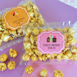Personalized Birthday Caramel Popcorn