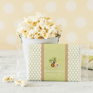 Personalized Baby Shower Microwaveable Popcorn Bags