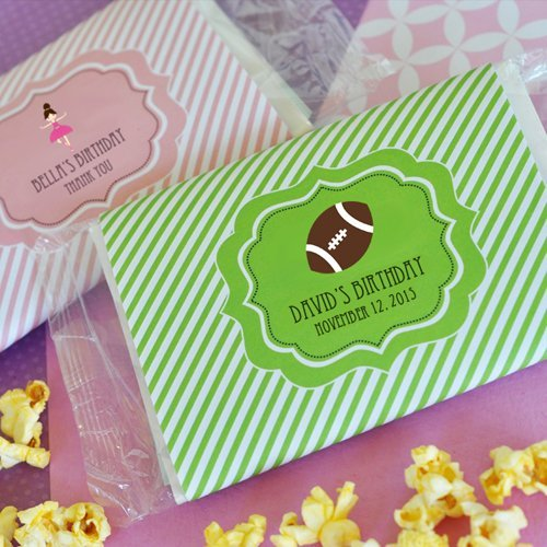 Personalized Birthday Microwavable Popcorn Bags
