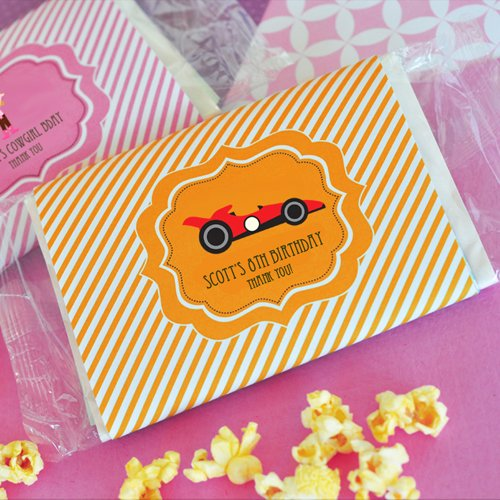 Personalized Kids Birthday Microwavable Popcorn Bags