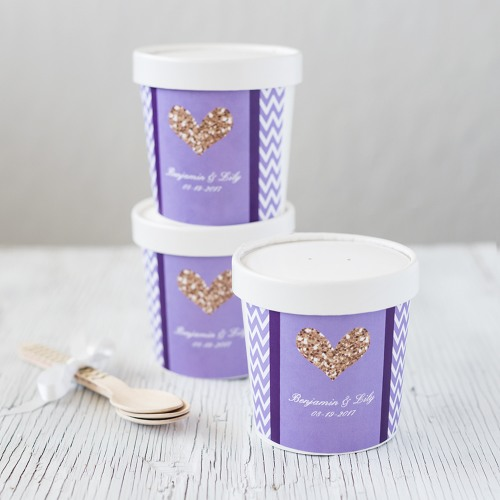 Personalized Bridal Pint Containers