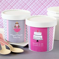 Personalized Birthday Ice Cream Pint Containers