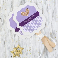 Personalized Wedding Paddle Fans