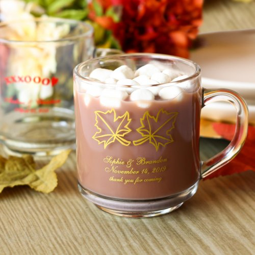 Personalized 10 oz. Glass Mugs with Handle