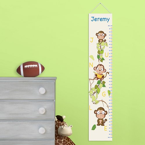 Personalized Monkey Height Chart