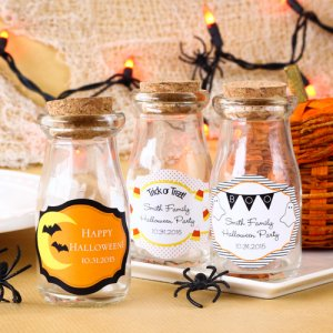 Personalized Halloween Vintage Milk Jars