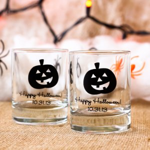 Personalized Halloween Shot Glass Votive Holder