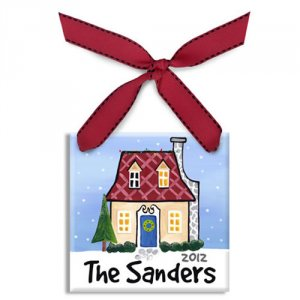Personalized Hand-Painted Ceramic Holiday Ornament