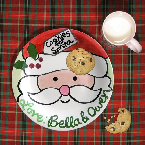 Personalized Hand-Painted Ceramic Holiday Plate