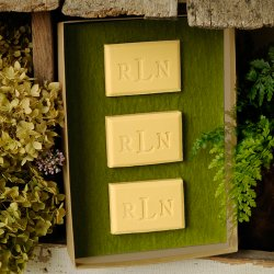 Personalized Green Tea and Olive Oil Soap Trio