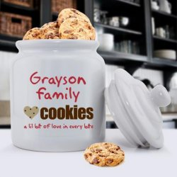 Personalized Ceramic Cookie Jar
