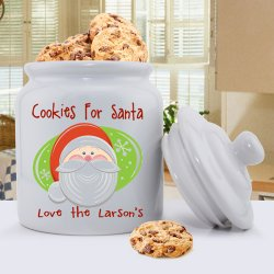 Personalized Holiday Ceramic Cookie Jar