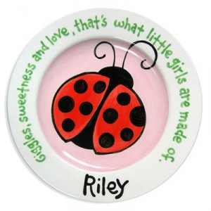 Personalized Hand-Painted Ceramic Children's Plate