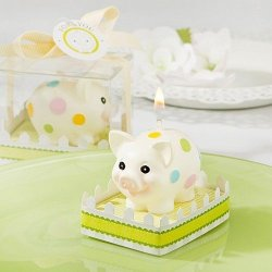 Polka Dot Piggy Candle Favor