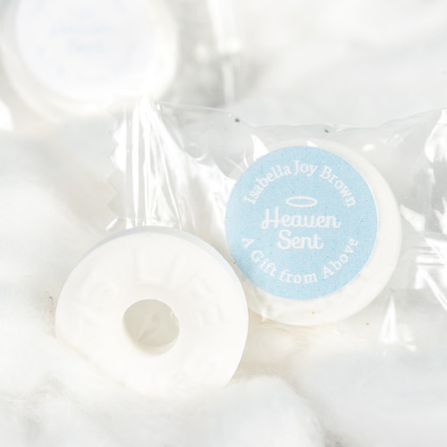 Personalized Heaven Sent Baby Shower Life Saver Candies
