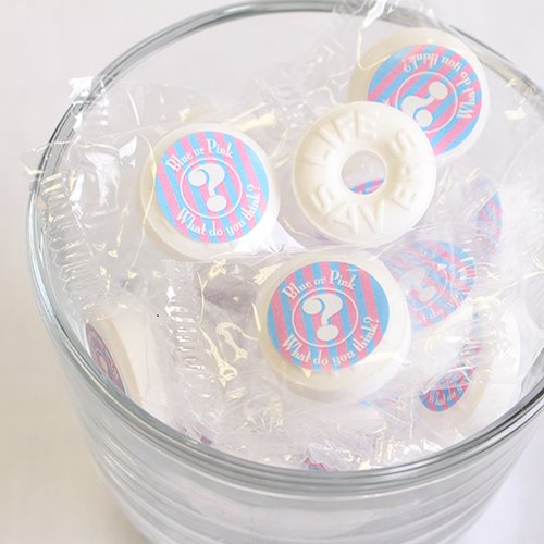 Personalized Gender Reveal Lifesavers
