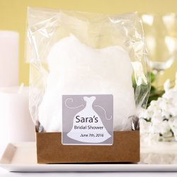 Cotton Candy Bridal Favor with Personalized Label