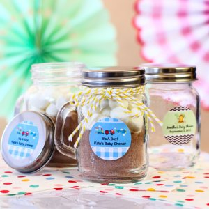 Personalized Baby Mason Jars with Handle