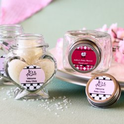 Personalized Baby Shower Heart Jars