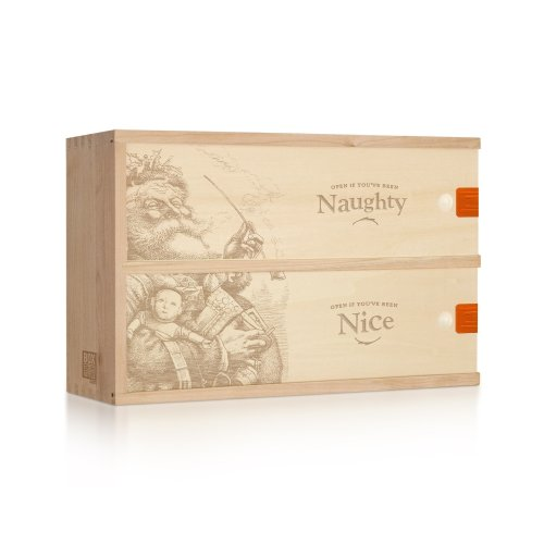 Engraved Wooden 2-Bottle Holiday Gift Box