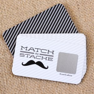 Mustache Scratch Cards Game
