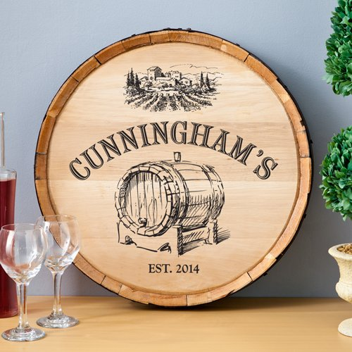 Personalized Barrel of Vino Wine Barrel SIgn