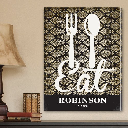 Personalized Canvas Print in Bistro Sign