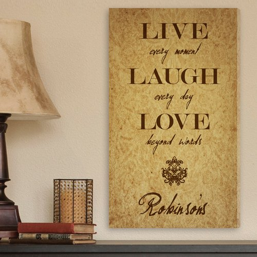 Personalized Canvas Print in LLL Warm Brown