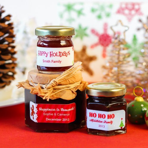 Personalized Holiday Jam Favor