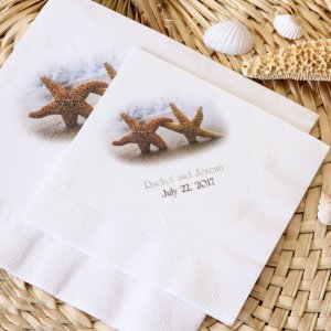 Personalized Full Color Bridal Napkin