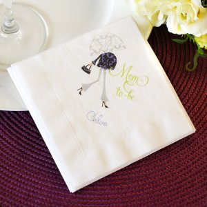 Personalized Full Color Print Baby Shower Napkin