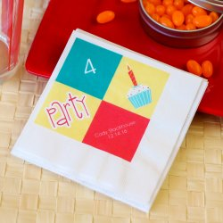 Personalized Full Color Print Birthday Napkin