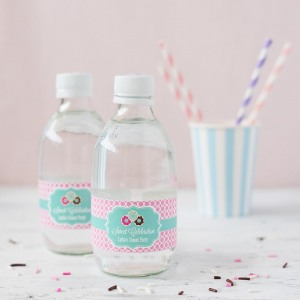 Personalized Birthday Themed Water Bottle Labels