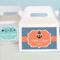 Personalized Bridal Mini Gable Favor Boxes