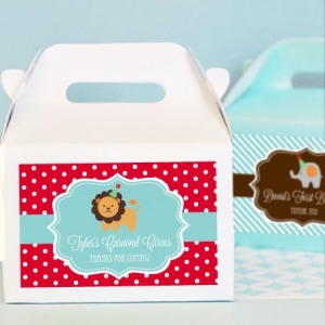 Personalized Birthday Mini Gable Favor Boxes