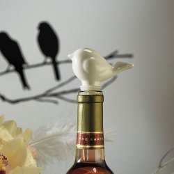 Love Bird Ceramic Bottle Stopper