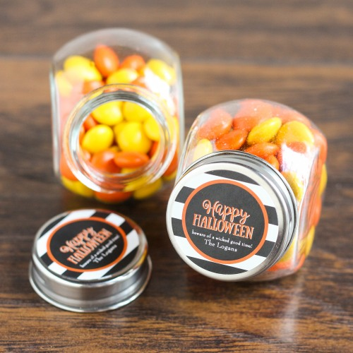 Personalized Halloween Candy Jars