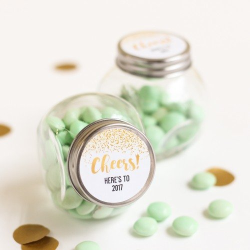 Personalized Cheers Candy Jars
