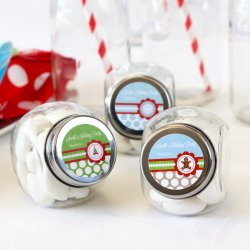 Personalized Holiday Candy Jars