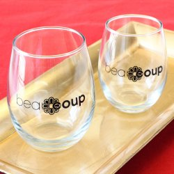 Corporate Logo Stemless Wine Glass