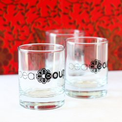 Corporate Logo Shot Glass Votive Candle Holder