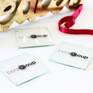 Corporate Logo Glass Coaster