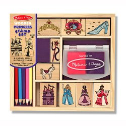 Personalized Wooden Princess Stamp Set